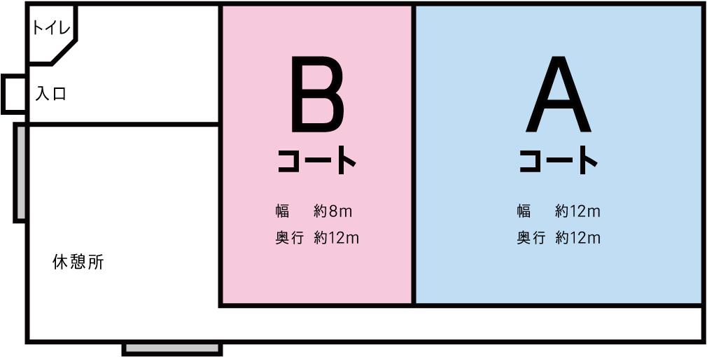 屋内レンタルスペースの料金表